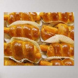 ホットドッグのケーキの…アジアデザートの食糧 ポスター
