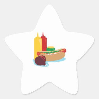 ホットドッグの昼食 星シール
