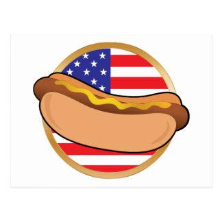 ホットドッグの米国旗 ポストカード