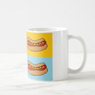 ホットドッグはデザインをタイルを張りました コーヒーマグカップ