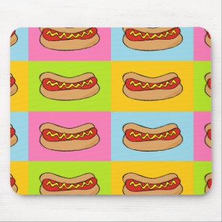 ホットドッグはデザインをタイルを張りました マウスパッド