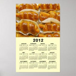 ホットドッグは2012カレンダーを固めます ポスター