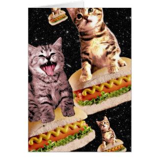 ホットドッグ猫の侵入 グリーティングカード
