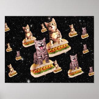 ホットドッグ猫の侵入 ポスター