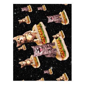 ホットドッグ猫の侵入 ポストカード