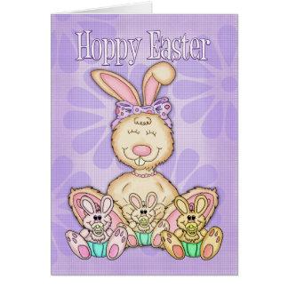 ホップの豊富なイースター-イースターカード-イースターのウサギ カード