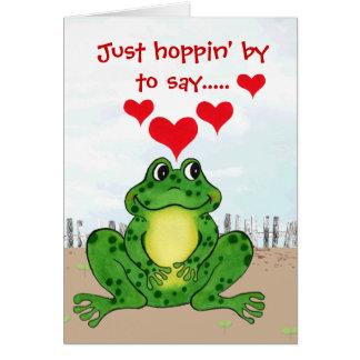 ホップの豊富なカエルのバレンタインデー-カード カード