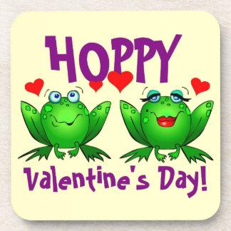 ホップの豊富なバレンタインデーのカエルのハートのコースター コースター