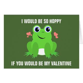 ホップの豊富なバレンタインデー カード