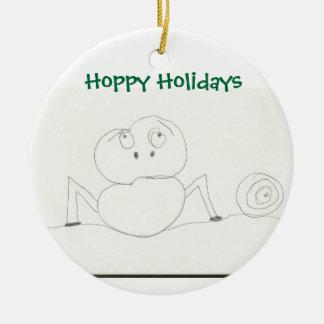 ホップの豊富な休日のオーナメント 陶器製丸型オーナメント