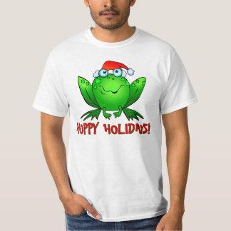 ホップの豊富な休日の漫画のカエルのワイシャツ Tシャツ