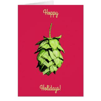 ホップの豊富な休日!  素晴らしいホツプ、陽気な挨拶! カード