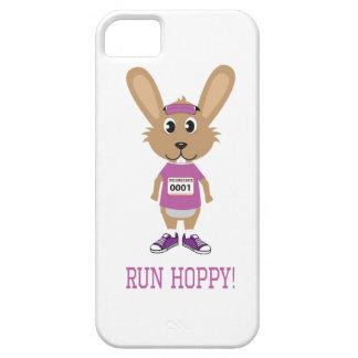 ホップの豊富な操業! ピンクのバニーのランナー iPhone SE/5/5s ケース