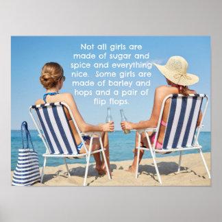 ホツプおよびビーチサンダル ポスター