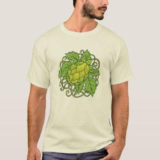 ホツプのデザイン(技術ビール恋人のティー) Tシャツ
