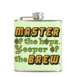 ホツプのHomebrewビール醸造業者パターンのマスター フラスク