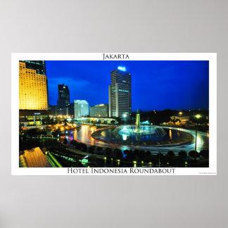 ホテルのインドネシア回り道ポスター ポスター