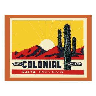 ホテルの植民地の住民 ポストカード