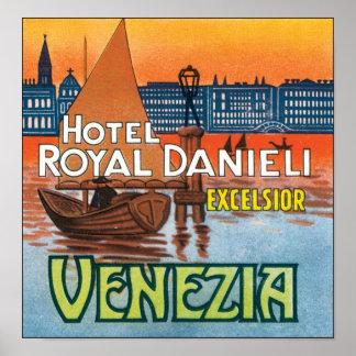 ホテルの王室のなDanieliの木毛Venezia ポスター