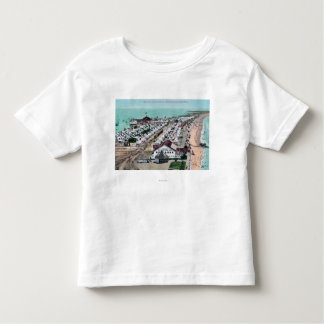 ホテルのdel Coronadoからのテント都市の空中写真 トドラーTシャツ