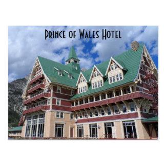 ホテルのWaterton湖ウェールズ王子 ポストカード
