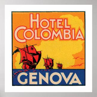 ホテルコロンビアジェノバ ポスター