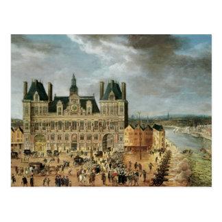 ホテルde Ville、Place deグリーブ ポストカード