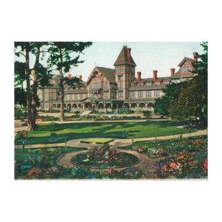 ホテルdel Monteおよび地面の外観 キャンバスプリント