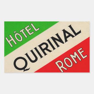 ホテルQuirinal (ローマイタリア) 長方形シール