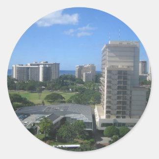 ホノルル、ハワイ都市打撃 ラウンドシール