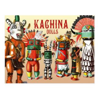 ホピー族のネイティブアメリカンの種族のKachinaの人形 ポストカード