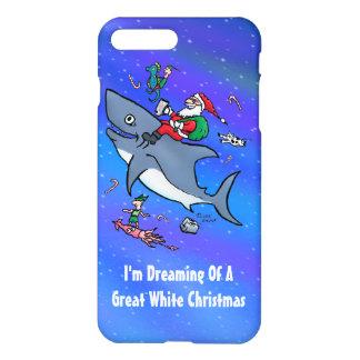ホホジロザメのおもしろいなクリスマスの夢を見ること iPhone 8 PLUS/7 PLUSケース