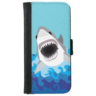 ホホジロザメのおもしろいな漫画 iPhone 6/6S ウォレットケース