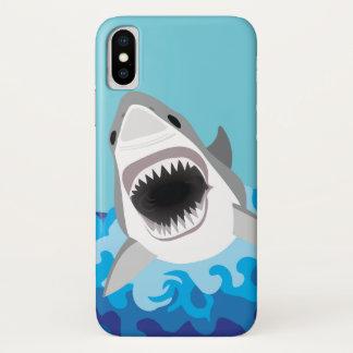 ホホジロザメのおもしろいな漫画 iPhone X ケース