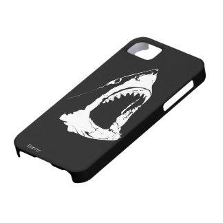 ホホジロザメの白黒デザイン iPhone SE/5/5s ケース