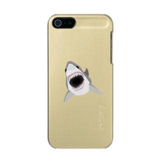 ホホジロザメ-鮫の攻撃 メタリックiPhone SE/5/5sケース