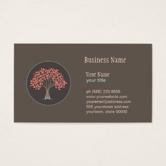 ホリスティックな治療の木の名刺 名刺