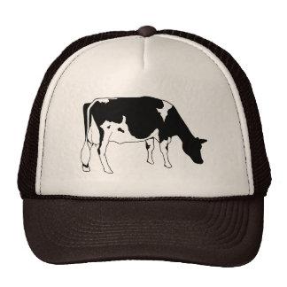 ホルスタイン乳牛、手で描いたラインスケッチ キャップ