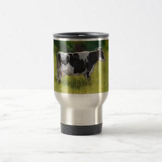 ホルスタイン乳牛: 油のパステル調の絵画 トラベルマグ