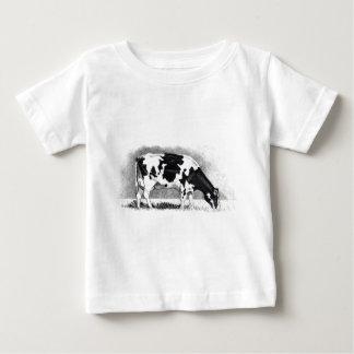 ホルスタイン牛: 鉛筆のスケッチ: 農場、国 ベビーTシャツ