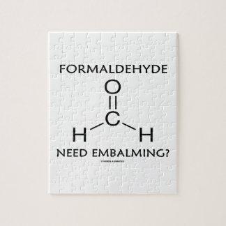 ホルムアルデヒドの必要性の防腐保存か。 (化学分子) ジグソーパズル