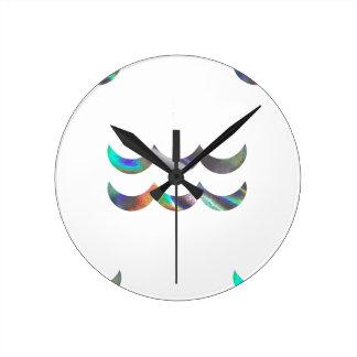 ホログラムのアクエリアス ラウンド壁時計