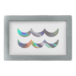 ホログラムのアクエリアス 長方形ベルトバックル