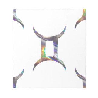 ホログラムのジェミニ ノートパッド