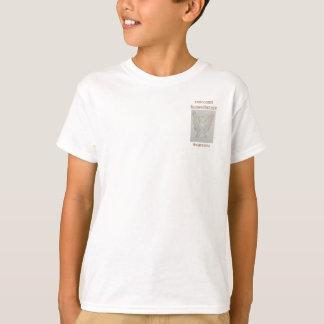 ホロコーストの記憶の認識度の白いリボンのティー Tシャツ