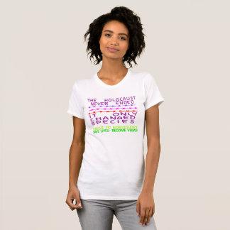 ホロコーストは決してTシャツを終えませんでした Tシャツ