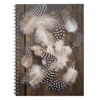 ホロホロ鳥の羽 ノートブック