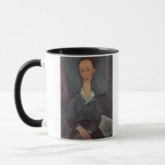 ホワイトカラーの女性のポートレート(カリフォルニアの油 マグカップ
