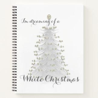 ホワイトクリスマスの木個人的なジャーナル日記 ノートブック