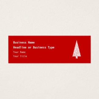 ホワイトクリスマスの木。 赤。 現代 スキニー名刺